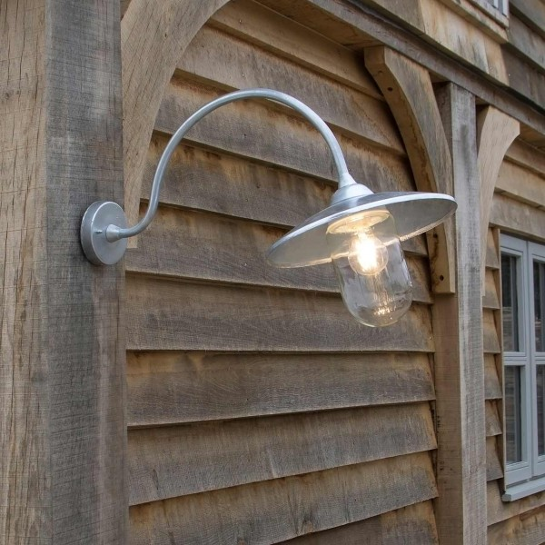 Außenwandleuchte »St Ives Arched Swan Neck«