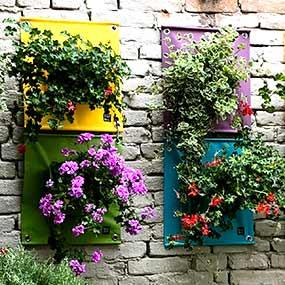 Pflanztaschen für die Wand
