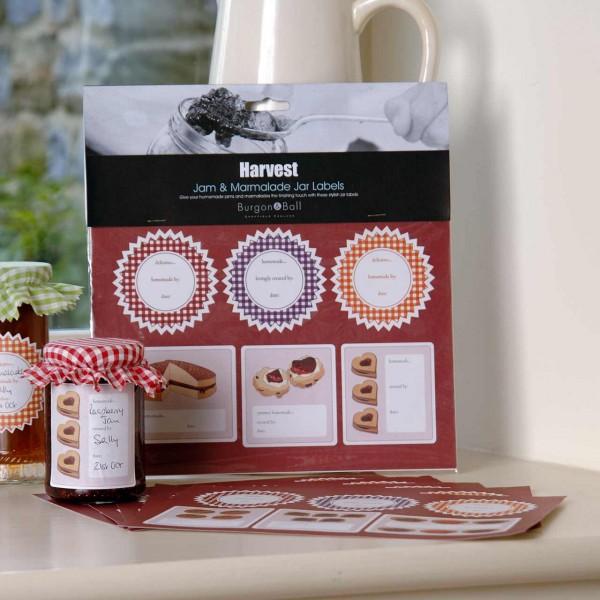Etiketten für Marmeladengläser