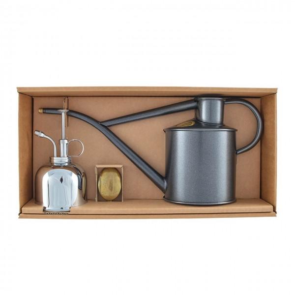 Geschenkset »Graphite/Nickel« Gießkanne 1,0 Liter inkl. Feinzerstäuber
