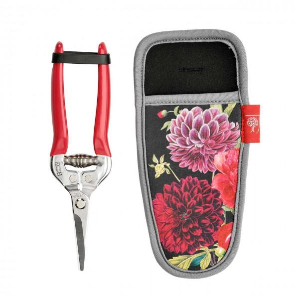Geschenkset mit Blumenschere & Holster »British Bloom«