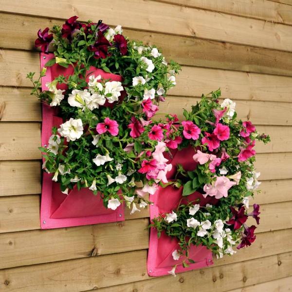 Pflanztaschen für die Wand »Blossom« 2er Pack