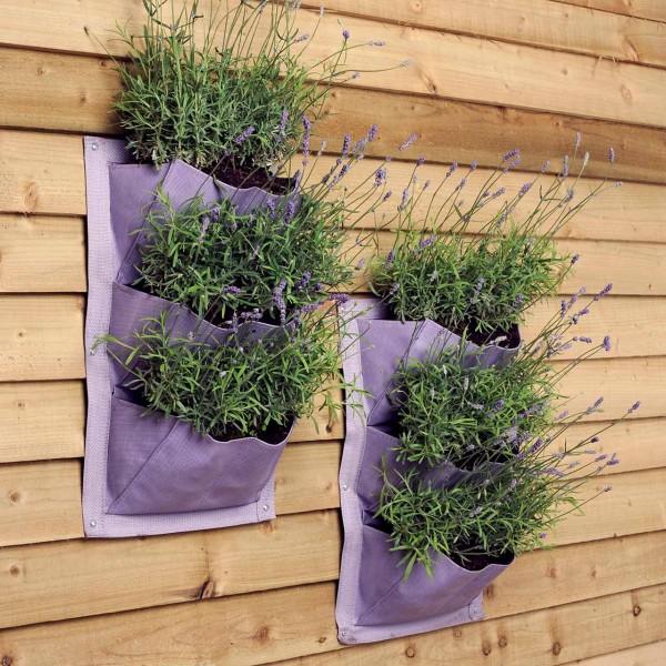 Pflanztaschen für die Wand »Lavendel« 2er Pack