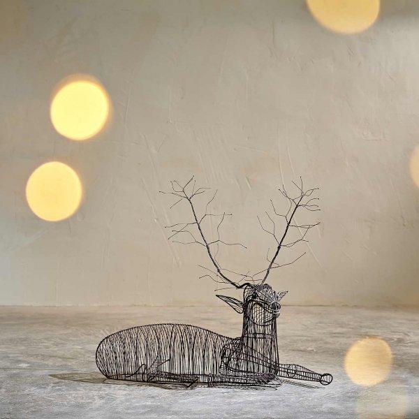 Weihnachtsdeko Rentier Violet