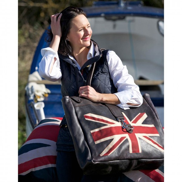 Ledertasche »Classic Large Flag Weekend Bag«