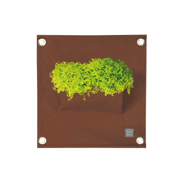 Pflanztasche Wand Braun