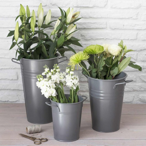 Blumenvase »Florist Bucket« - Anthrazit