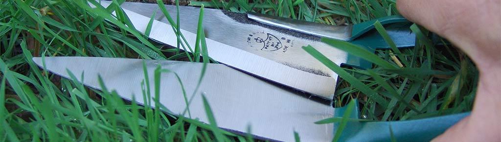 Handgrasschere