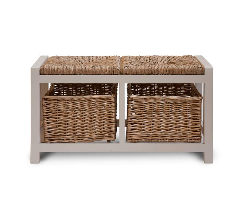 sitzbank mit zwei k rben the garden shop. Black Bedroom Furniture Sets. Home Design Ideas