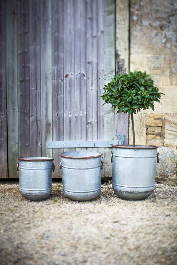 Pflanzkübel – Pflanztopf Metall Zink – The Garden Shop