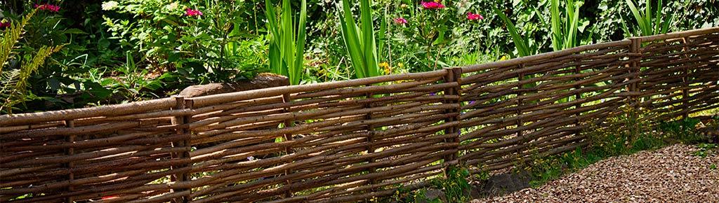 Beeteinfassung Holz beeteinfassung haselnuss the garden shop