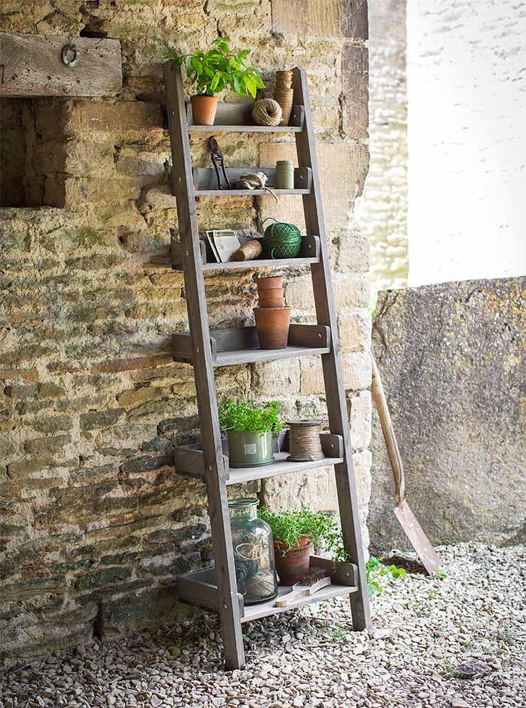 Leiterregal the garden shop for Leiterregal selber bauen
