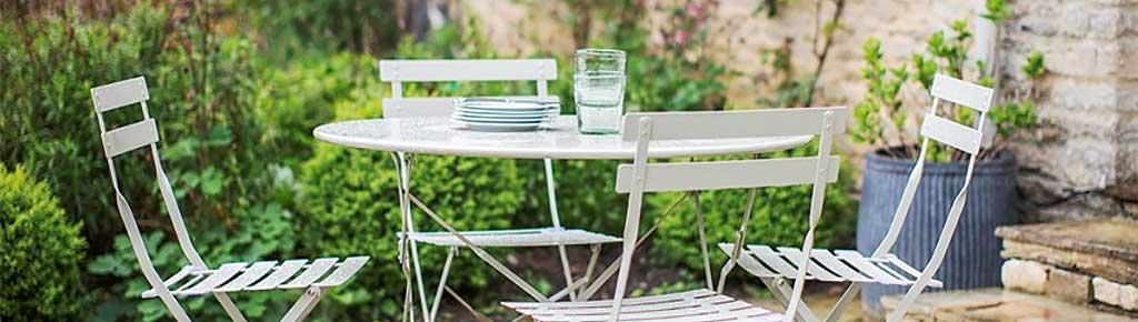 Gartensitzgruppe mit Tisch und 4 Stühlen